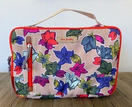 VERA BRADLEY Large Blush & Brush Case Makeup Cosmetic Falling Flowers Ne... - $34.65