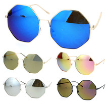 SA106 Mirrored Womens Oversize Octagon Hippie Sunglasses - $9.95