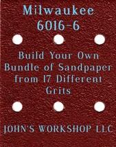 Build Your Own Bundle Milwaukee 6016-6 1/4 Sheet No-Slip Sandpaper 17 Grit - $0.99