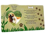 BANBERRY DESIGNS Pet Memorial Picture Frame - When Tomorrow Starts Without Me