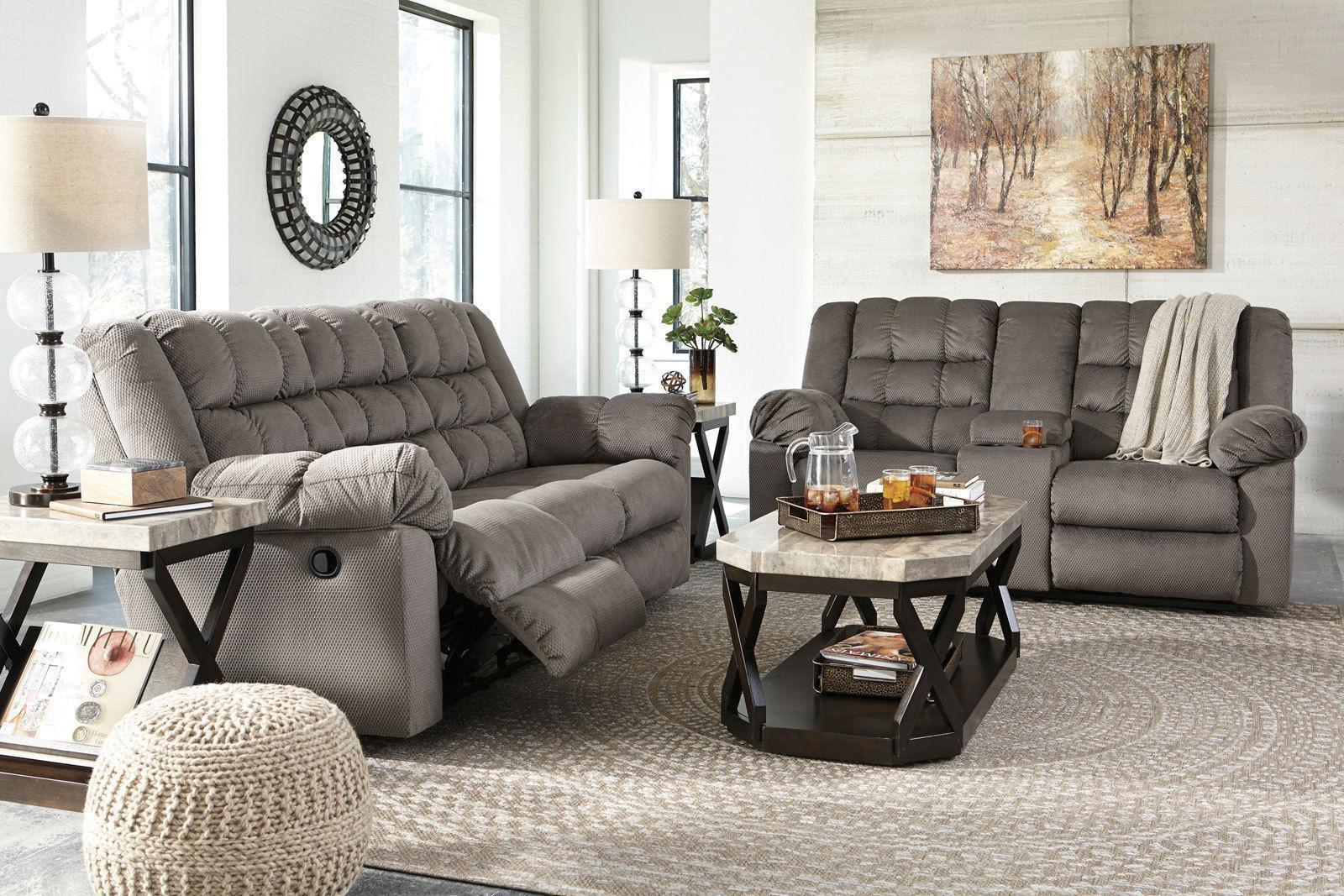 Constant Living Room Furniture Gray Microfiber Recliner Sofa Couch