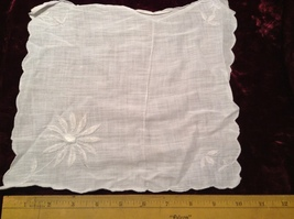 Assorted Lot of Antique Napkins in Various Colors/Sizes/Designs Some Applique  image 6