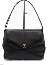 CHANEL Bag Satchel Tote Black Caviar Leather Single Flap Kelly Shoulder ... - $2,202.75