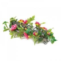 Pink Faux Floral Candleholder - $32.04