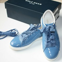 Cole Haan Grand Pro Tennis Shoes in Riverside Blue Patent size US 5B - $39.99
