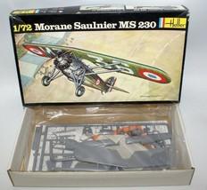 Vintage HELLER 1:72 Scale MORANE SAULNIER MS 230 Fighter Plane Model Kit... - $12.00