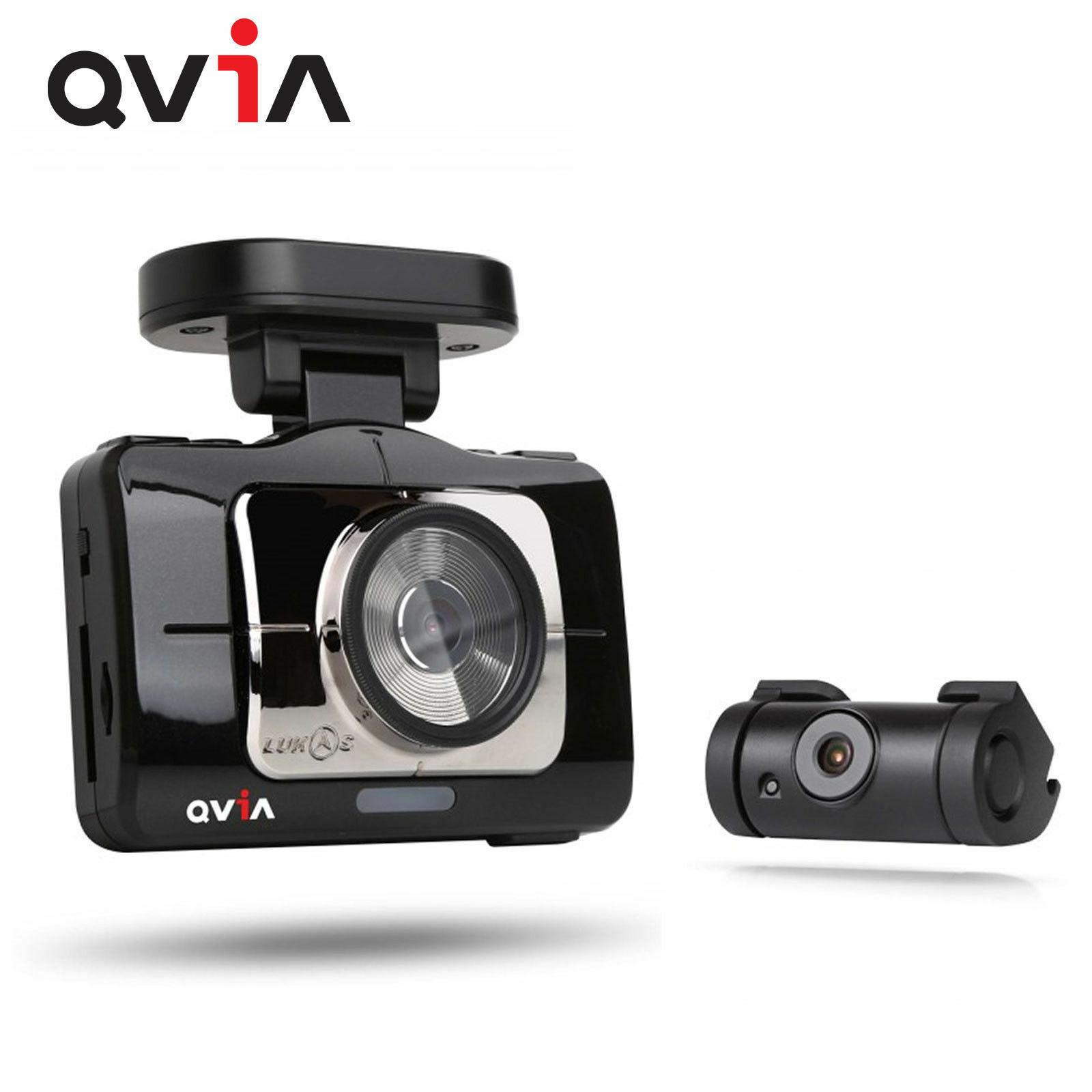 "QVIA R975 WD GPS 16GB+8GB 3.97 ""FHD Touch LCD 2CH Car Dash Camera Car Blackbox"