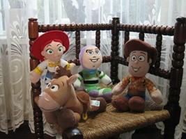 Set AH Disney Europe Toy Story 4 Dolls Nicotoy Woody Buzz Jessie Bullsey... - $46.99
