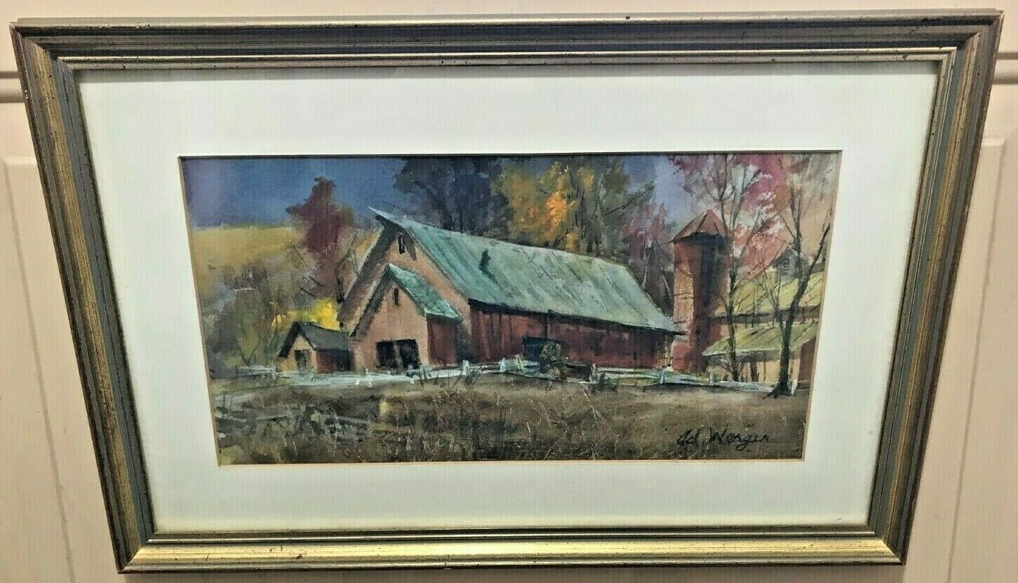 Primary image for BARN AND FARMSCAPE WATERCOLOR BY ADELAIDE WERGER  [ ARTHUR WERGER ]