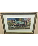 BARN AND FARMSCAPE WATERCOLOR BY ADELAIDE WERGER  [ ARTHUR WERGER ]  - $249.95