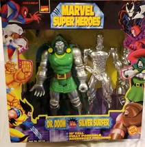 "Marvel Super Heroes 10"" Toy Biz Dr. Doom Vs Silver Surfer VTG Action Fig... - $68.59"