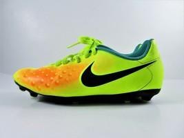 Nike JR Magista Soccer Cleats OLA II FG Volt Yellow Orange 844204-708 Yo... - £12.95 GBP