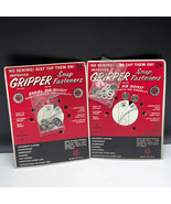 GRIPPER SNAP FASTENERS 1950 VINTAGE SEWING ADVERTISING RADIAL RIB SOCKET... - $17.82
