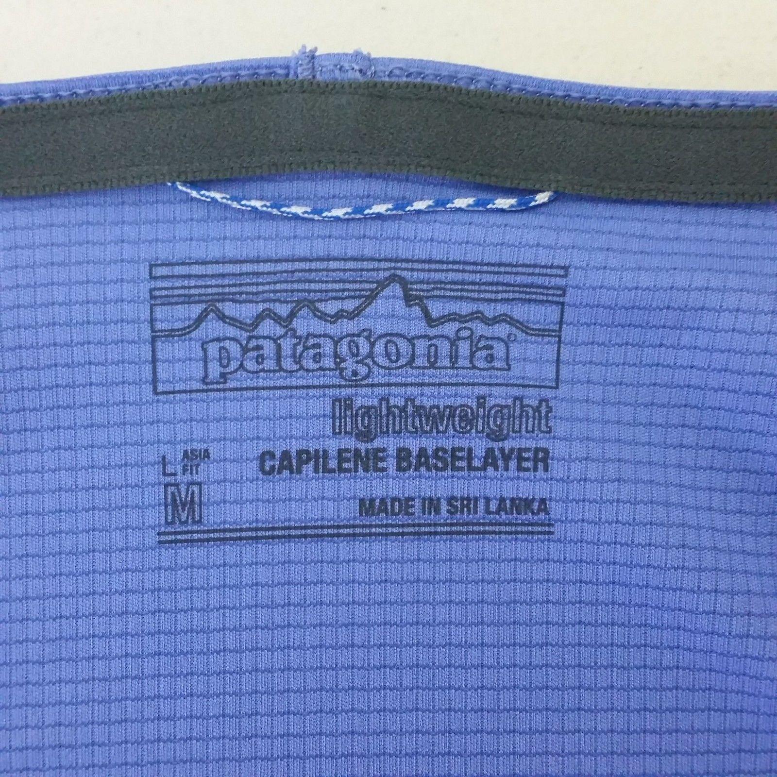 Patagonia Womens Med Athletic Purple Shirt Capilene Base Layer Hiking Climbing