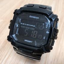 Armitron 40/8244 Men 100m Black Barrel Digital Alarm Chrono Watch Hour~N... - $13.99