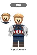 Hot collection summer Lego Captain America hero Marvel Infinity war minifigure - $3.95