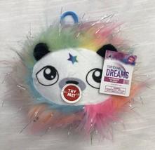 Rainbow Dreams Mini Fuzzy Plush Neon Light-Up Panda Bear Face Animal Cli... - $11.78