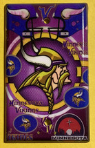 Minnesota Vikings Light Switch Power Outlet Duplex Wall Cover Plate Home Decor image 3