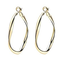 Yoursfs Gold Color Big Hoop Earrings Simple Spring Clip Hoop Earrings - $17.34