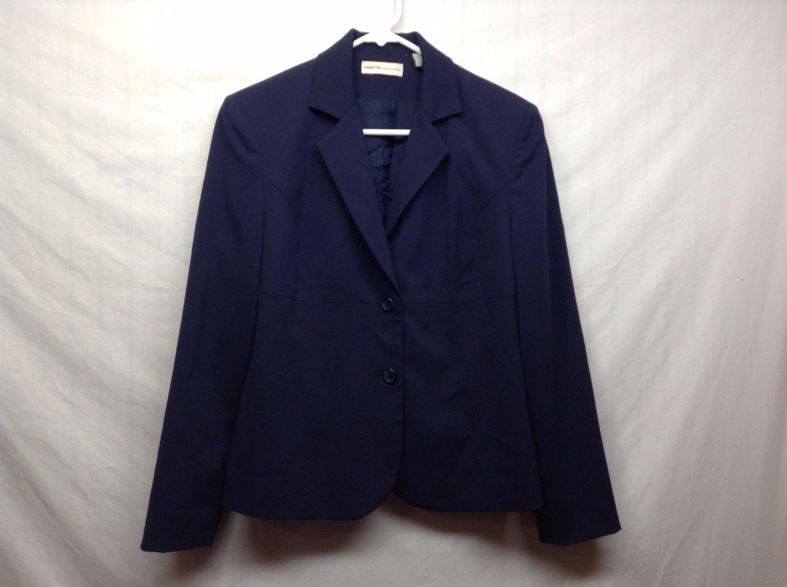 Valerie Separates Navy Blue Collared Blazer Sz 4