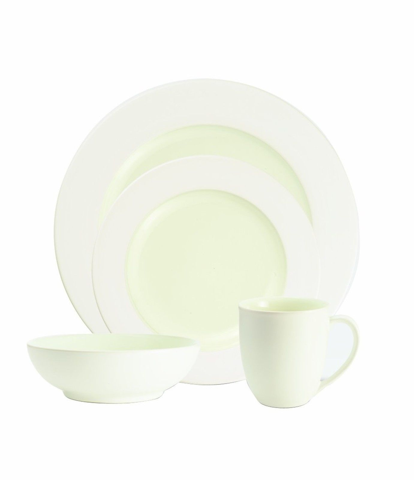 Noritake Colorwave White 4-Piece Rim Round Dish Set
