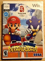 Mario & Sonic Wii Olympic Games Beijing Video Game Disk Case Complete B6-11 - $13.99