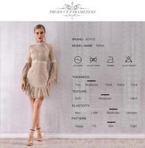 Women's Brand Designer Style Flare Sleeve Sequined Mini Club Dress image 3