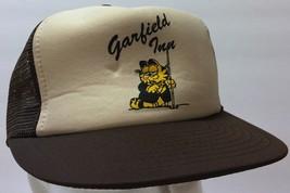 VTG Garfield Inn Mesh Trucker Snapback Hat Motel Hotel Jim Davis Comic T... - $40.58