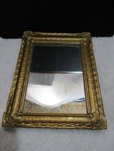 Vintage Gold Framed Wooden Rectangle Decorative Mirror, Home Decor - $41.95