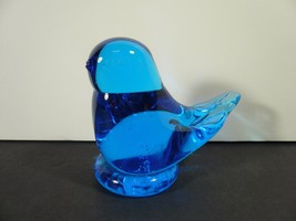 "Vintage 3"" Bluebird Leo Ward Art Glass 1995 Figurine Signed - $6.00"