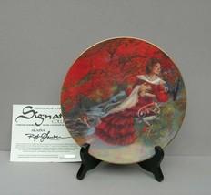 <><  Vintage NIB COA collectore plate Alaina by Rob Sauber How Do I Love... - $9.74