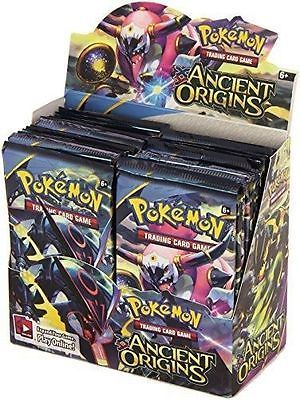 Ancient Origins 9 Booster Pack Lot 1/4 Booster Box POKEMON TCG Trading Cards