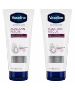 Lot of 2 Vaseline Clinical Care Aging Skin Rescue Healing Moisture Lotio... - $15.32