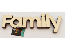 """Unfinished Wooden """"Family"""" Sign #1441336"""