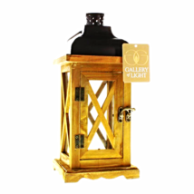 "Hayloft Small Wooden Candle Lantern - 14 3/8"" high with handle. - $24.70"