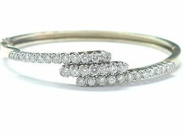 Diamant Rond or Jaune Bracelet Trois Lignes G-VS2 2.02Ct 14KT 17.8cm - $2,338.86
