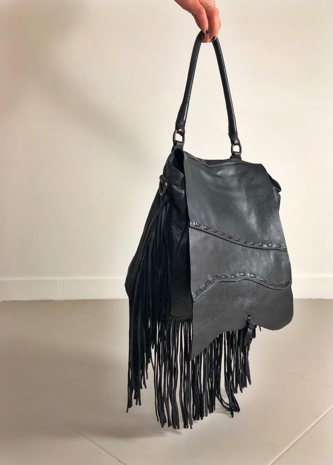FRINGE BAG handamde leather bag  image 1