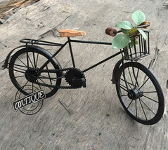 Office Decor Rural Bicycle Iron > Home Decorative Ornaments Figures > Cy... - $42.70