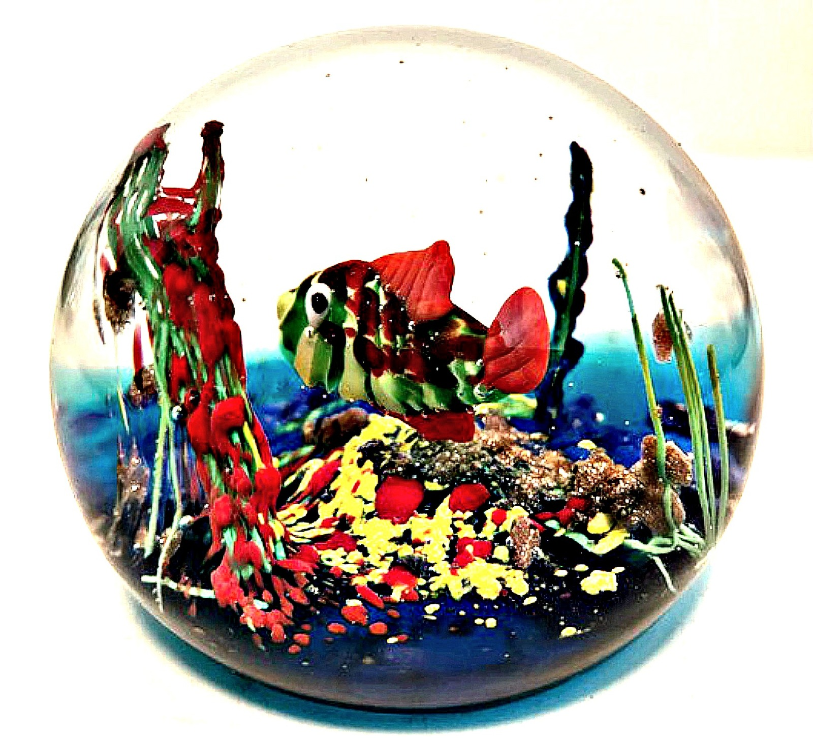 Art Glass Paperweight Murano Italy Colorful and 11 similar items