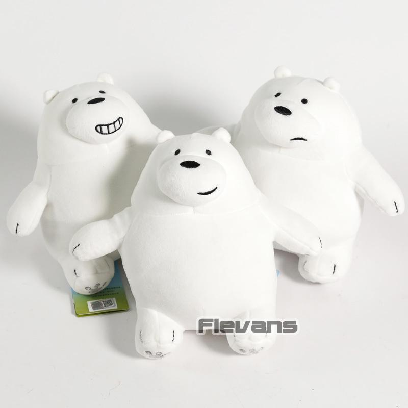 Cartoon We Bare Bears Grizzly Panda Ice Bear Koala Nom Nom Kawaii Plush Toys Sof image 4