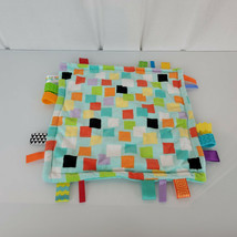 Taggies Bright Starts Squares w/ Teethers Aqua Security Blanket Lovey SH... - $14.84