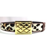 Women's Escada Animal Print Leather Belt Made in Italy Size 40 - $124.95