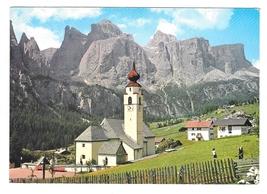 Italy Kolfuschg Colfosco Panorama Tyrol Alps Village Sellagruppa Postcar... - $4.99