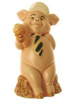 Danbury Mint Pig figurine Piggies collection Billy Grunter Pig Ornament ... - $25.97