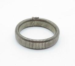 925 Sterling Silver - Vintage Minimalist Flexible Bangle Bracelet - B6923 - $135.67