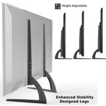 Universal Table Top TV Stand Legs for Toshiba 32LV67U, Height Adjustable - $38.65