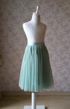 Sage Green Flower Girl Tutu Skirt Toddler Tutu Flower Girl Tulle Skirt(Age 1-14) image 3