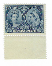 1897 Queen Victoria Diamond Jubilee Canada Postage Stamp Catalog Number 54 MNH