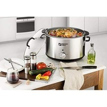 Slow Cooker 10 Quart Removable Pot 3 Heat Settings Stainless Steel Cool ... - $91.76