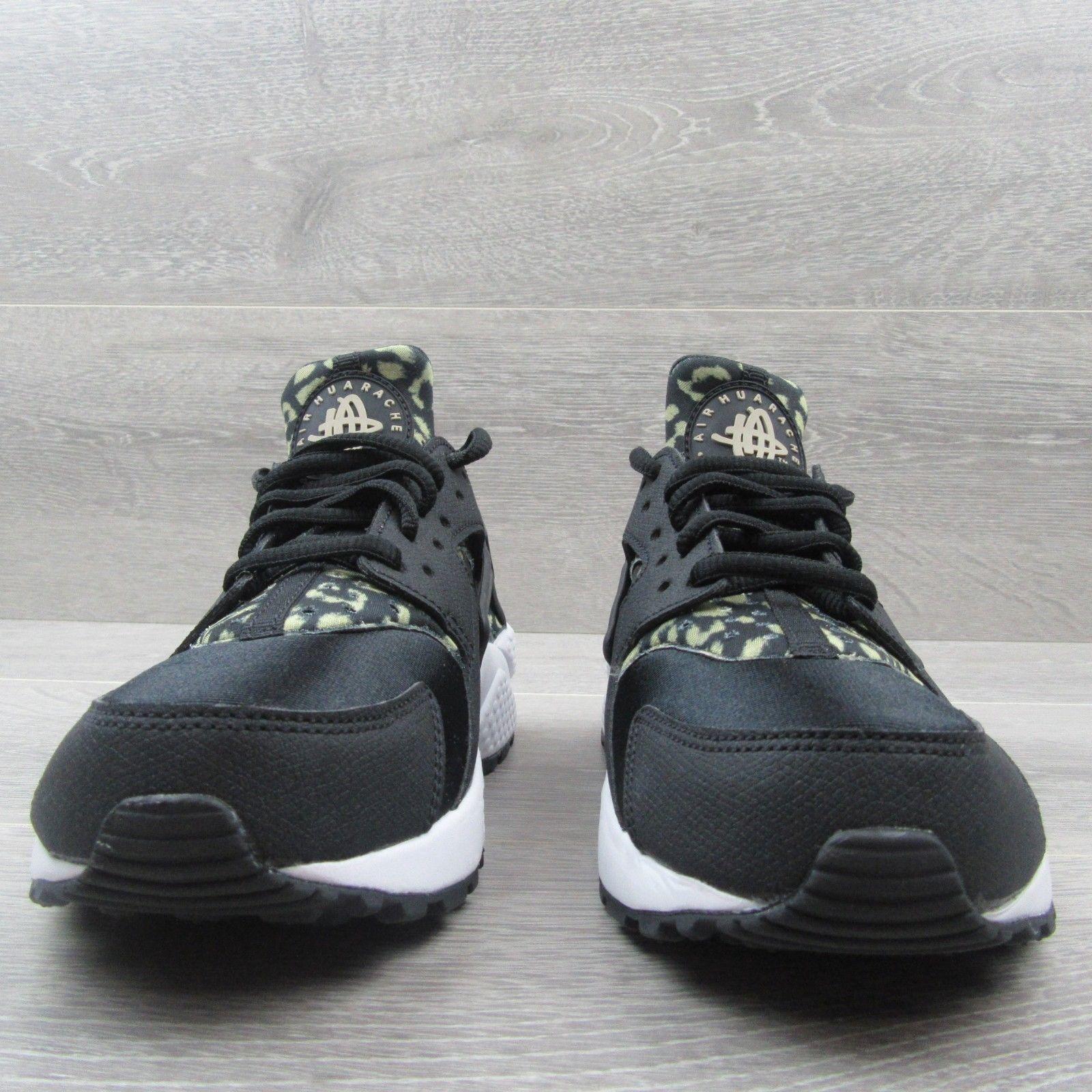 new arrival b2121 abd8d Nike Air Huarache Shoes Size 6.5 Womens Leopard Print Black Beige New 725076  007